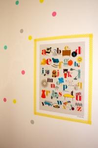 abécédaire rétro vintage studio jolis momes polka dots stickers