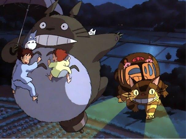 totoro chat-bus ghibli film enfant avis