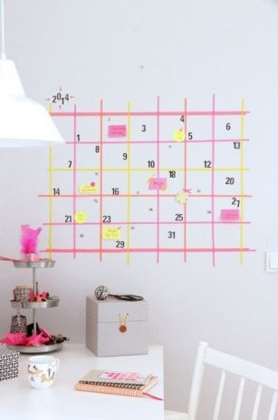 washitape masking tape déco calendrier