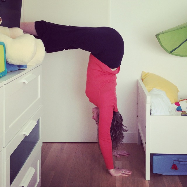 handstand yoga inversion yogamum
